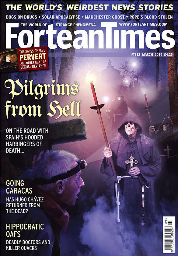 Alex Tomlinson's illustration for Fortean Times