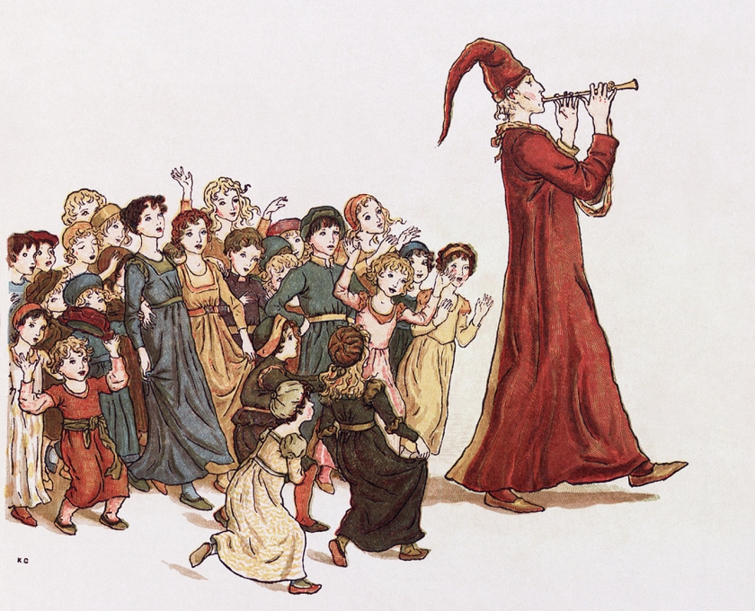 llustration from The Pied Piper of Hamelin by Kate Greenaway. Source: Wikimedia Commons