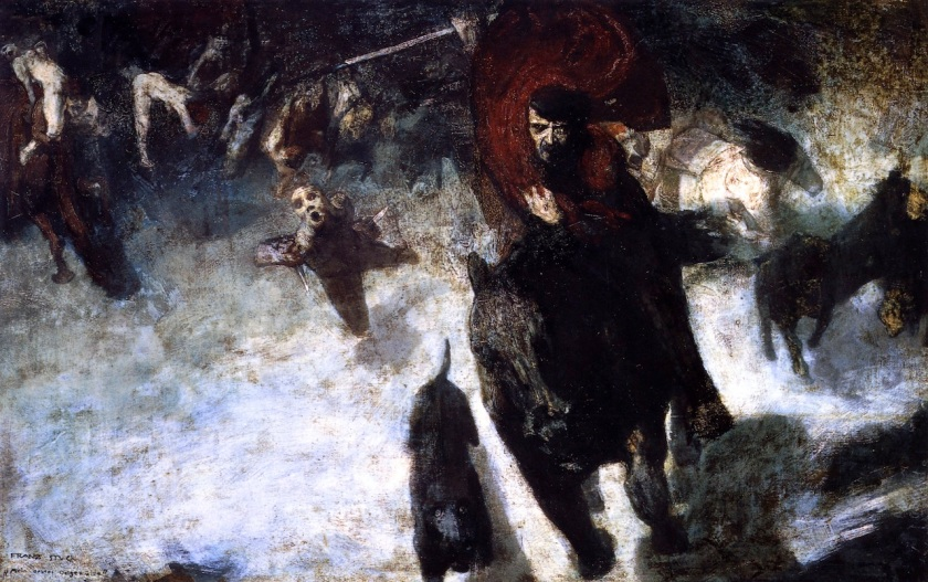 The Wild Chase, by Franz Stuck (1889)